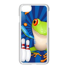 Tree Frog Bowling Apple Iphone 7 Seamless Case (white) by crcustomgifts