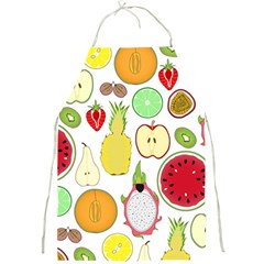 Mango Fruit Pieces Watermelon Dragon Passion Fruit Apple Strawberry Pineapple Melon Full Print Aprons by Mariart