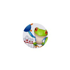 Tree Frog Bowler 1  Mini Buttons by crcustomgifts