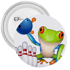 Tree Frog Bowler 3  Buttons by crcustomgifts