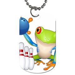 Tree Frog Bowler Dog Tag (two Sides) by crcustomgifts