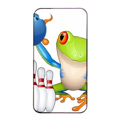Tree Frog Bowler Apple Iphone 4/4s Seamless Case (black) by crcustomgifts