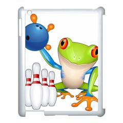 Tree Frog Bowler Apple Ipad 3/4 Case (white) by crcustomgifts