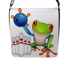 Tree Frog Bowler Flap Messenger Bag (l)  by crcustomgifts