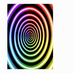 Hypnotic Circle Rainbow Large Garden Flag (two Sides) by Mariart