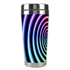 Hypnotic Circle Rainbow Stainless Steel Travel Tumblers by Mariart