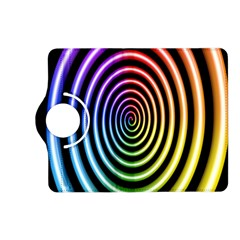 Hypnotic Circle Rainbow Kindle Fire Hd (2013) Flip 360 Case by Mariart