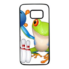 Tree Frog Bowler Samsung Galaxy S7 Black Seamless Case by crcustomgifts