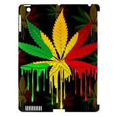 Marijuana Cannabis Rainbow Love Green Yellow Red Black Apple Ipad 3/4 Hardshell Case (compatible With Smart Cover) by Mariart