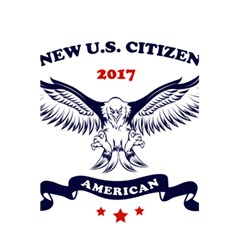New U S  Citizen Eagle 2017  5 5  X 8 5  Notebooks by crcustomgifts