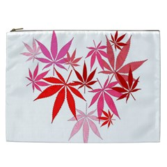 Marijuana Cannabis Rainbow Pink Love Heart Cosmetic Bag (xxl)  by Mariart