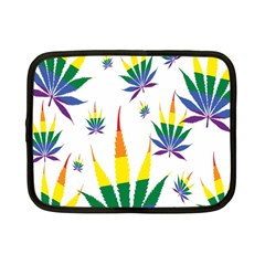 Marijuana Cannabis Rainbow Love Green Yellow Red White Leaf Netbook Case (small)  by Mariart