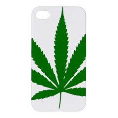 Marijuana Weed Drugs Neon Cannabis Green Leaf Sign Apple Iphone 4/4s Hardshell Case by Mariart