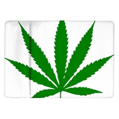 Marijuana Weed Drugs Neon Cannabis Green Leaf Sign Samsung Galaxy Tab 10 1  P7500 Flip Case by Mariart