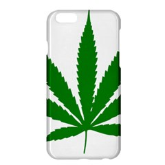 Marijuana Weed Drugs Neon Cannabis Green Leaf Sign Apple Iphone 6 Plus/6s Plus Hardshell Case by Mariart
