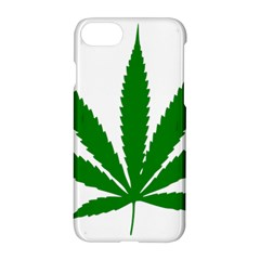Marijuana Weed Drugs Neon Cannabis Green Leaf Sign Apple Iphone 7 Hardshell Case by Mariart