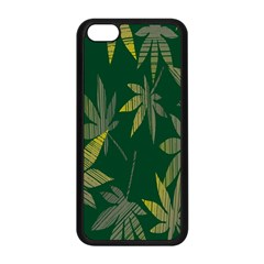 Marijuana Cannabis Rainbow Love Green Yellow Leaf Apple Iphone 5c Seamless Case (black) by Mariart