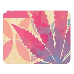 Marijuana Heart Cannabis Rainbow Pink Cloud Double Sided Flano Blanket (large)  by Mariart
