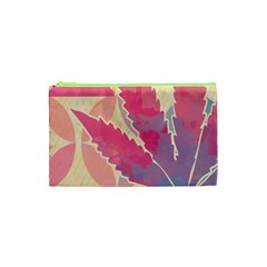 Marijuana Heart Cannabis Rainbow Pink Cloud Cosmetic Bag (xs) by Mariart