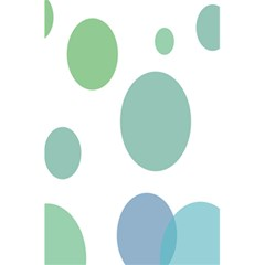 Polka Dots Blue Green White 5 5  X 8 5  Notebooks by Mariart