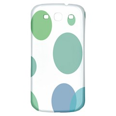 Polka Dots Blue Green White Samsung Galaxy S3 S Iii Classic Hardshell Back Case by Mariart