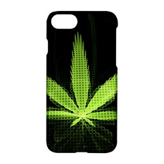 Marijuana Weed Drugs Neon Green Black Light Apple Iphone 7 Hardshell Case by Mariart