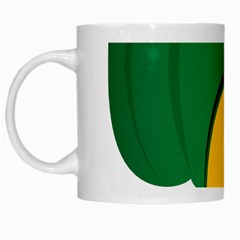 Pumpkin Peppers Green Yellow White Mugs by Mariart
