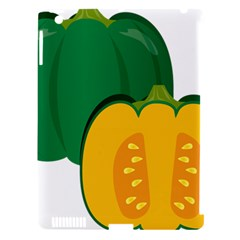 Pumpkin Peppers Green Yellow Apple Ipad 3/4 Hardshell Case (compatible With Smart Cover) by Mariart