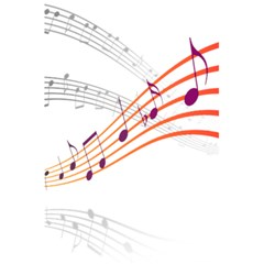 Musical Net Purpel Orange Note 5 5  X 8 5  Notebooks by Mariart