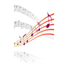 Musical Net Purpel Orange Note Shower Curtain 48  X 72  (small)  by Mariart