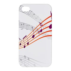 Musical Net Purpel Orange Note Apple Iphone 4/4s Hardshell Case by Mariart