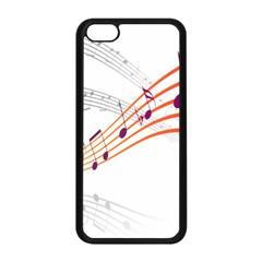 Musical Net Purpel Orange Note Apple Iphone 5c Seamless Case (black) by Mariart