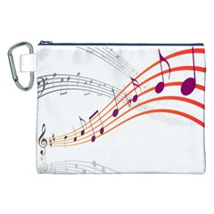 Musical Net Purpel Orange Note Canvas Cosmetic Bag (xxl) by Mariart