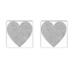Marijuana Heart Cannabis Black Love Cufflinks (square) by Mariart