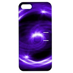 Purple Black Star Neon Light Space Galaxy Apple Iphone 5 Hardshell Case With Stand by Mariart