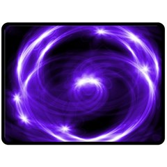 Purple Black Star Neon Light Space Galaxy Double Sided Fleece Blanket (large)  by Mariart
