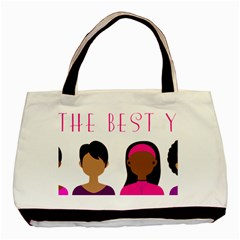 Black Girls Be The Best You Basic Tote Bag (two Sides) by kenique