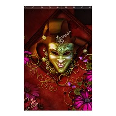 Wonderful Venetian Mask With Floral Elements Shower Curtain 48  X 72  (small)  by FantasyWorld7