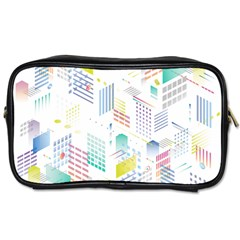 Layer Capital City Building Toiletries Bags 2 Side by Mariart