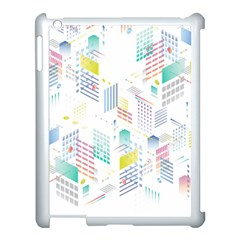 Layer Capital City Building Apple Ipad 3/4 Case (white) by Mariart