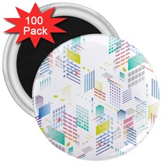Layer Capital City Building 3  Magnets (100 Pack) by Mariart