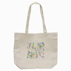 Layer Capital City Building Tote Bag (cream) by Mariart