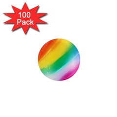 Red Yellow White Pink Green Blue Rainbow Color Mix 1  Mini Magnets (100 Pack)  by Mariart