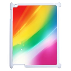 Red Yellow White Pink Green Blue Rainbow Color Mix Apple Ipad 2 Case (white) by Mariart