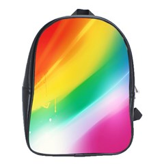Red Yellow White Pink Green Blue Rainbow Color Mix School Bag (xl) by Mariart