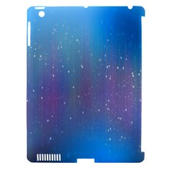 Rain Star Planet Galaxy Blue Sky Purple Blue Apple Ipad 3/4 Hardshell Case (compatible With Smart Cover) by Mariart