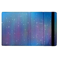 Rain Star Planet Galaxy Blue Sky Purple Blue Apple Ipad 3/4 Flip Case by Mariart