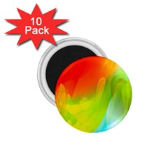 Red Yellow Green Blue Rainbow Color Mix 1 75  Magnets (10 Pack)  by Mariart