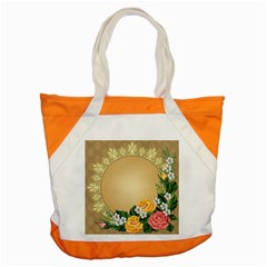 Rose Sunflower Star Floral Flower Frame Green Leaf Accent Tote Bag by Mariart