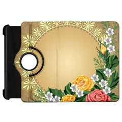 Rose Sunflower Star Floral Flower Frame Green Leaf Kindle Fire Hd 7  by Mariart